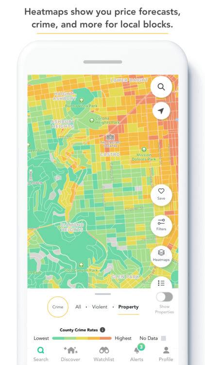 comehome by housecanary heatmap