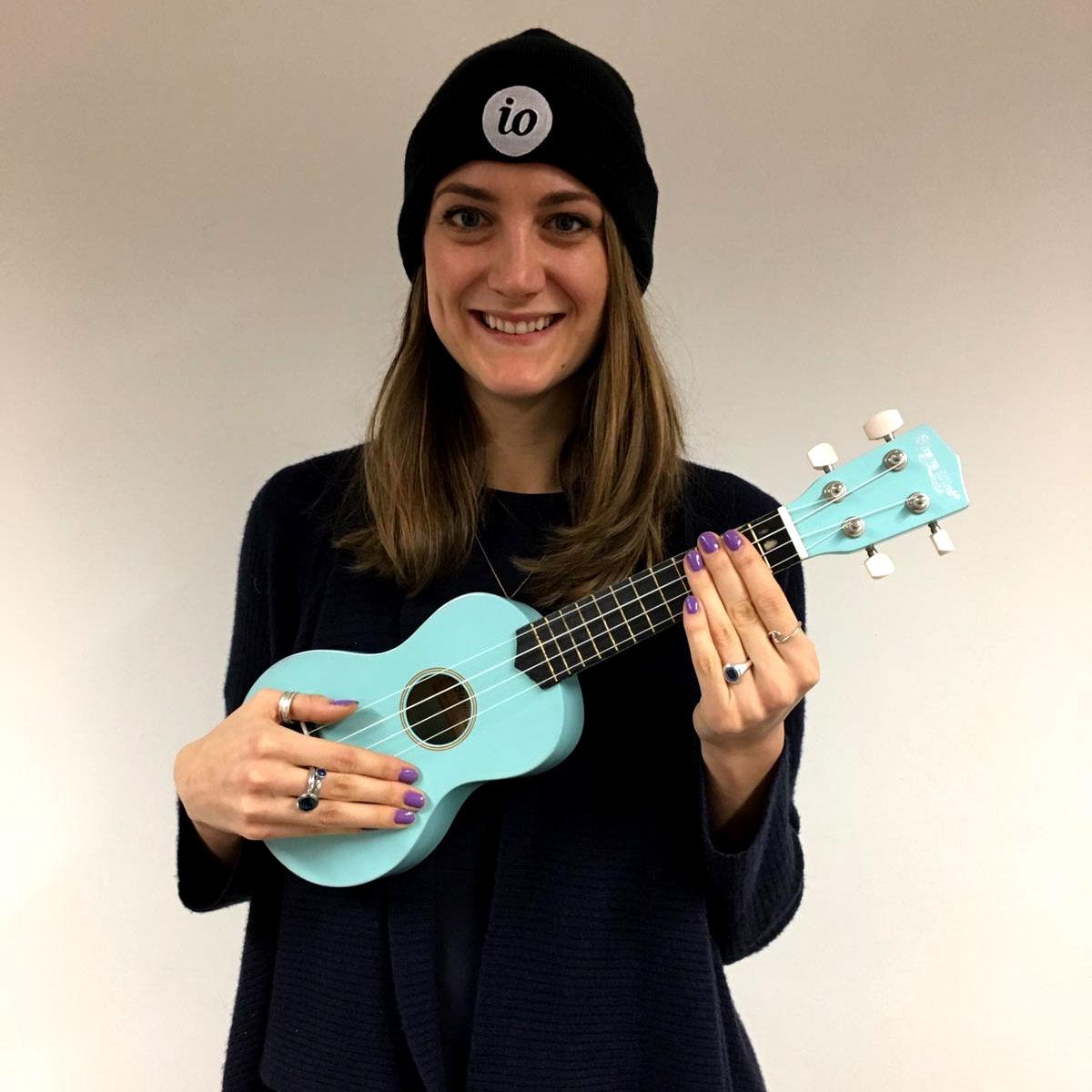 josi with ukulele