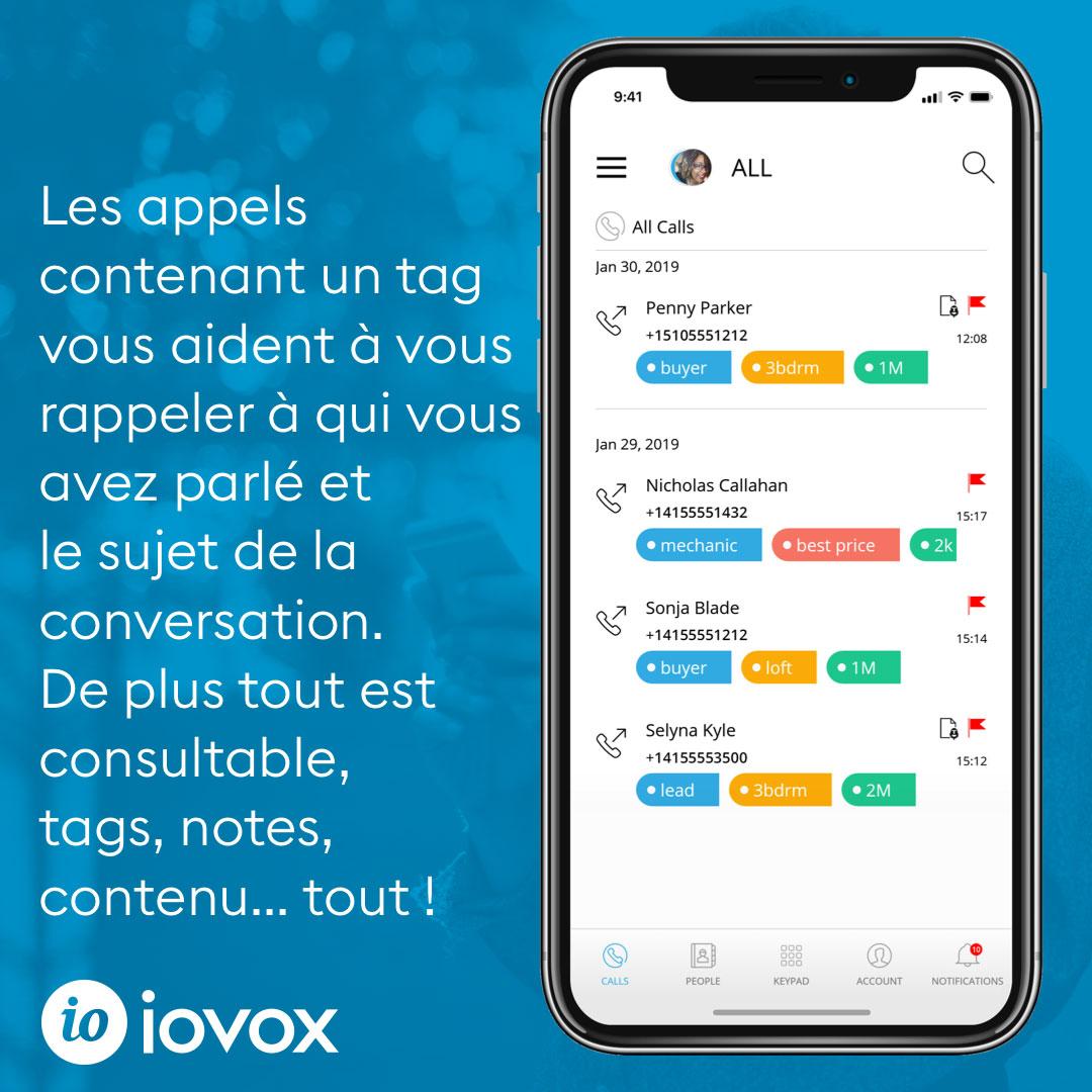 tagging calls screenshot