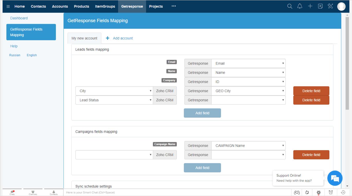 LeadSync Zoho CRM Integration