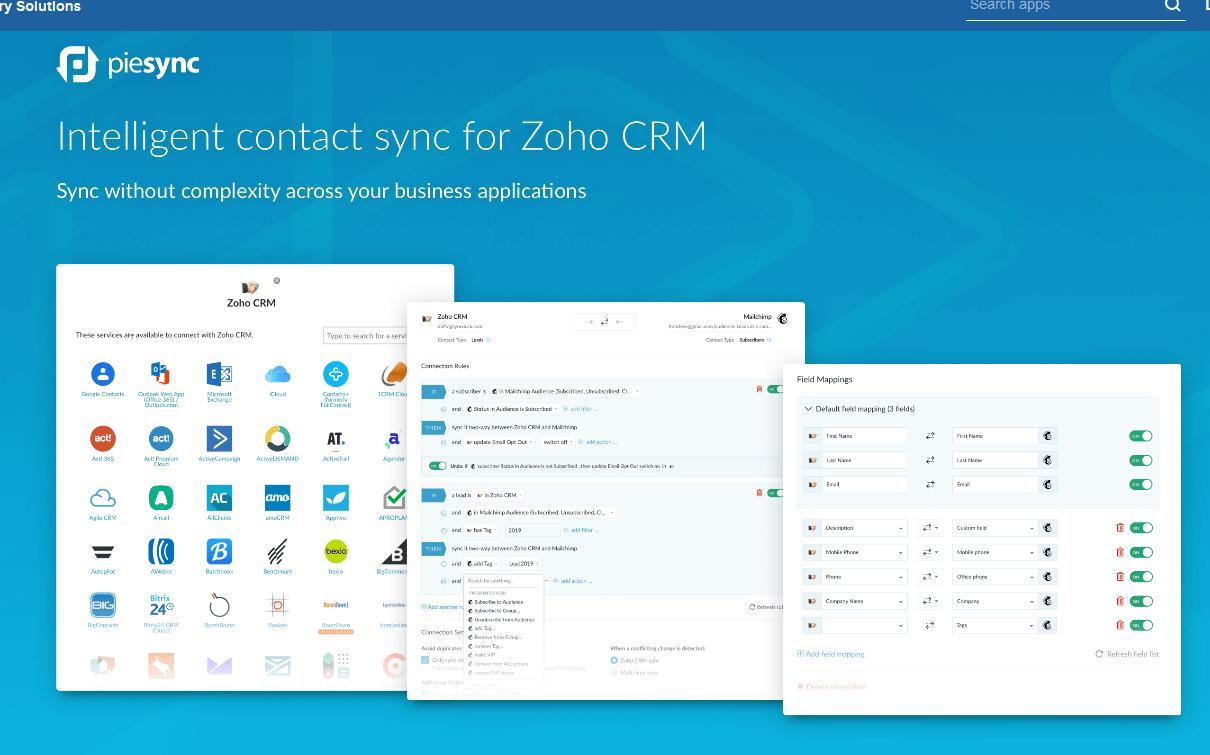 PieSync Zoho CRM Integration